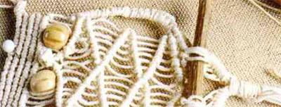 Миниатюрный совенок техникой макраме